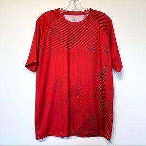 Spyder short sleeve athletic tee shirt red